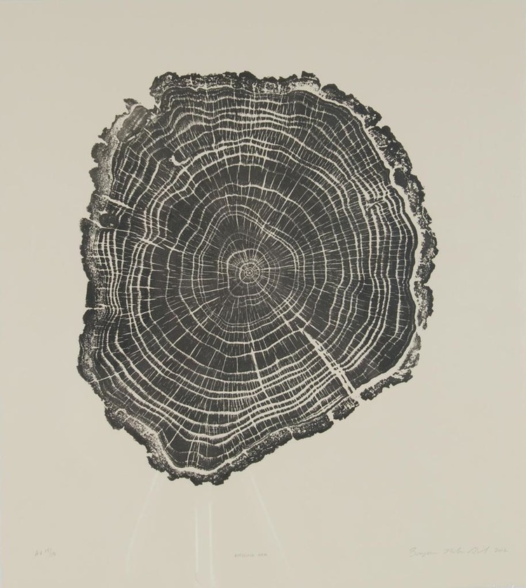 Brian Nash Gill - Woodcut, English Oak, 2012